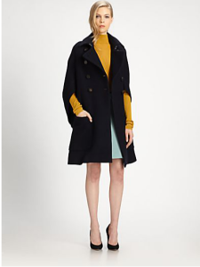 chloe. winter2013/2014. wool crepe coat